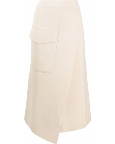 Шерстяная с завышенной талией юбка с запахом Mrz