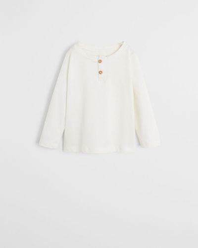 T-shirt biały Mango Kids