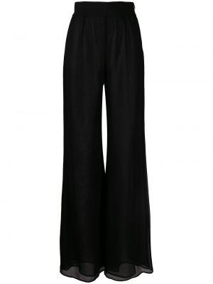 Czarne spodnie z wysokim stanem Galvan
