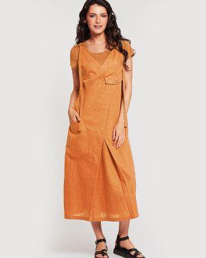 Летнее платье платье-сарафан льняное D`imma Fashion Studio