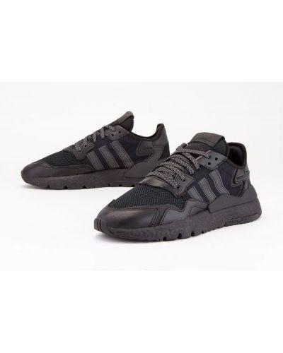 Czarne joggery skorzane Adidas