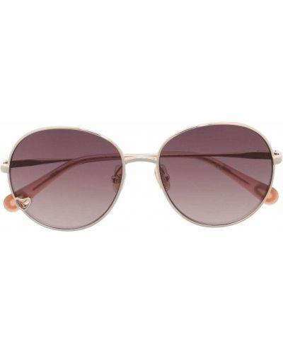 Fioletowe złote okulary Chloé Kids