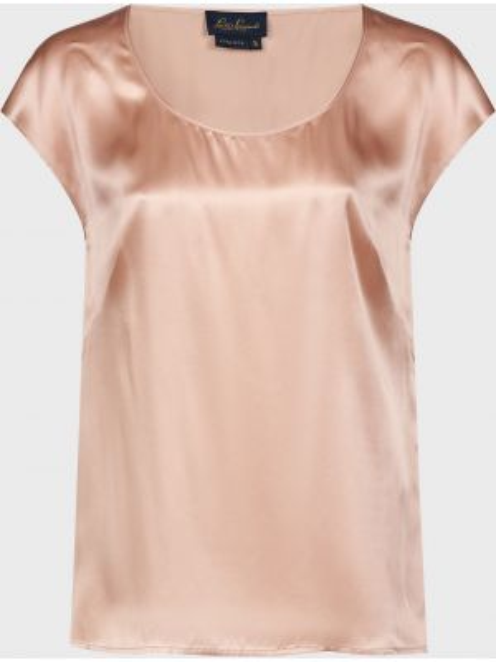 Бежевая шелковая блузка Luisa Spagnoli