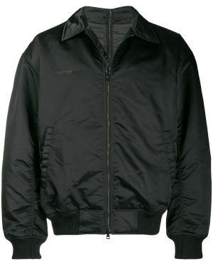 Нейлоновая черная куртка с манжетами Wwwm