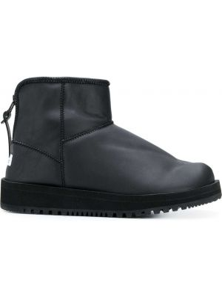 Черные кожаные сапоги на молнии Suicoke