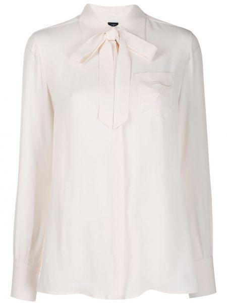 Рубашка с длинным рукавом в полоску с вышивкой Fay