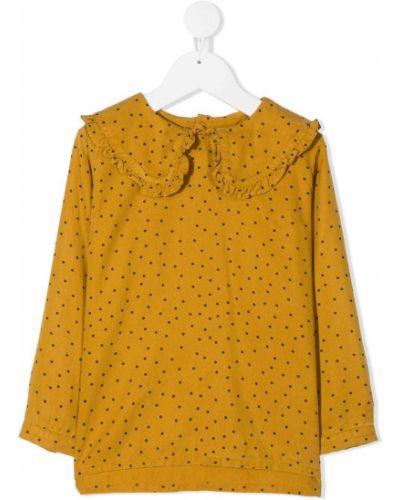 Приталенный желтый топ с длинными рукавами с манжетами Tiny Cottons