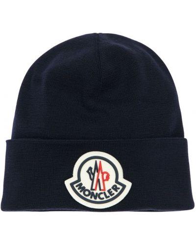 Wełniany czapka z łatami Moncler