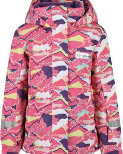 Розовая куртка из полиэстера Glissade