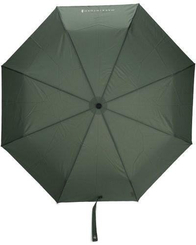 Zielony automatyczny parasol z printem Mackintosh