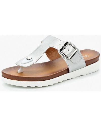 Сабо кожаные серебряного цвета Style Shoes