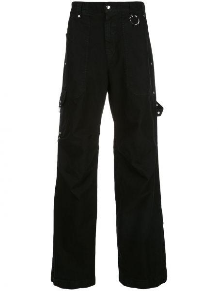 Брючные черные брюки карго с поясом с заплатками Phipps