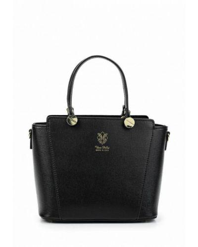 Кожаная сумка через плечо черная Giulia Massari