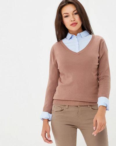 Коричневый пуловер 2018 Vis-a-vis