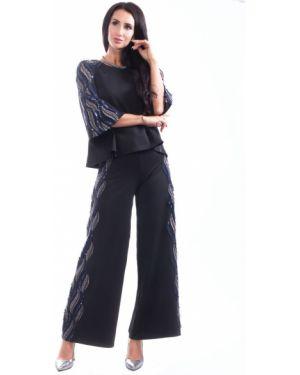 Костюм с широкими брюками на пуговицах Wisell