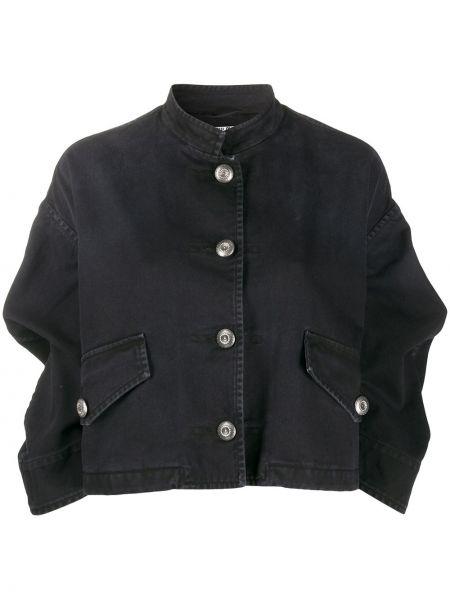 Прямая черная куртка на пуговицах с карманами Miu Miu