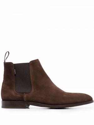 Кожаные ботинки челси - коричневые Ps Paul Smith