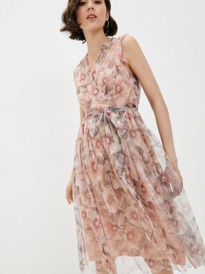 Бежевое платье с запахом Rinascimento