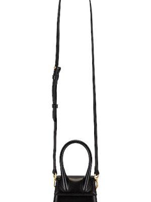 Czarna torebka skórzana asymetryczna Jacquemus