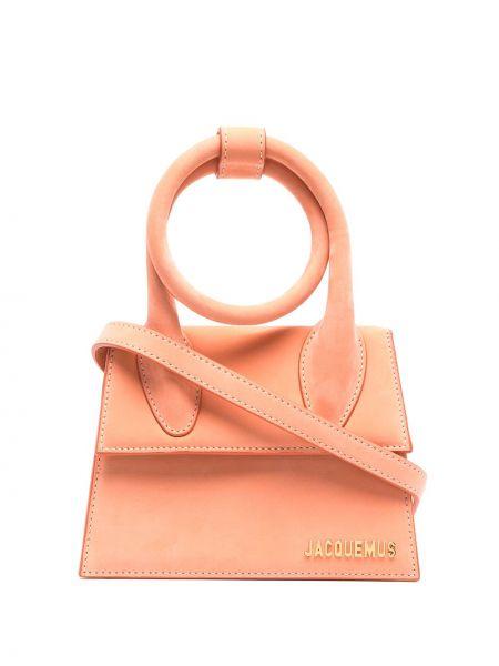 Оранжевая сумка из натуральной кожи Jacquemus