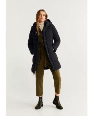 Пальто с капюшоном на молнии пальто Mango