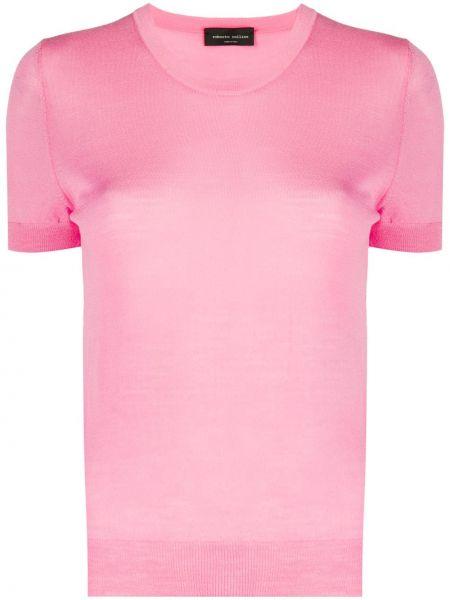 Топ розовый короткий Roberto Collina