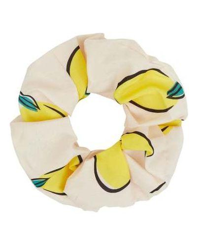 Żółta gumka do włosów z printem Becksöndergaard