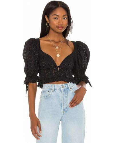Кружевная блузка - черная For Love & Lemons