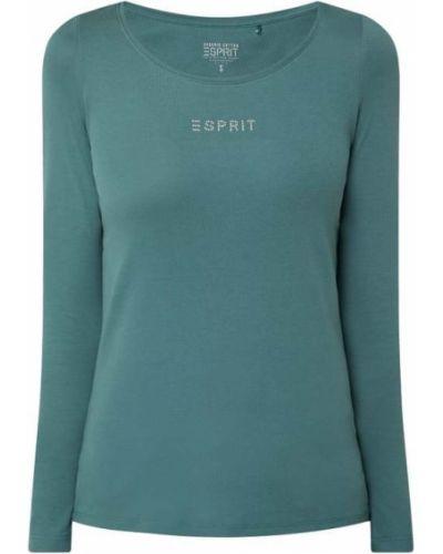 Bluzka bawełniana - turkusowa Esprit
