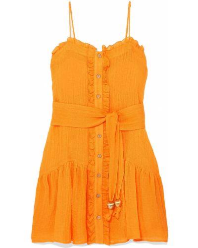 С ремешком льняное пляжное платье Lisa Marie Fernandez