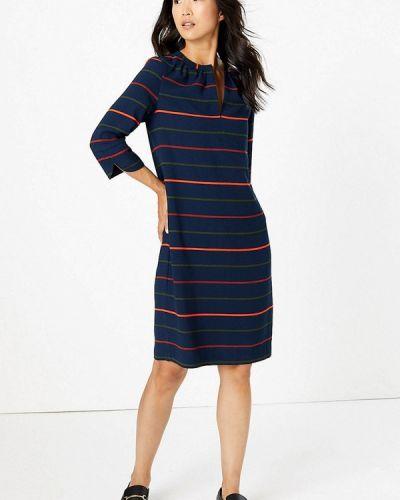 Повседневное платье осеннее синее Marks & Spencer
