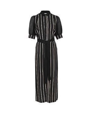 Хлопковое черное платье с капюшоном для офиса Vuall
