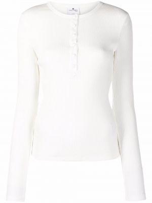 Biała koszulka z długimi rękawami Courreges