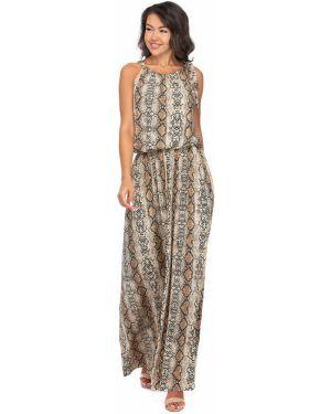 Платье макси с американской проймой с поясом Charmante