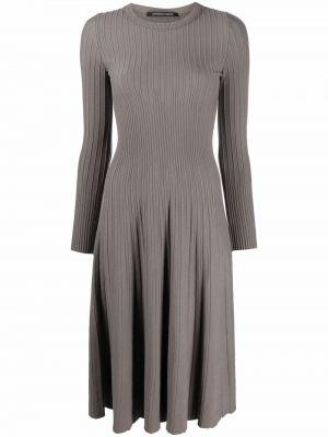 Платье макси с длинными рукавами - серое Antonino Valenti