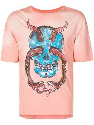 Różowy t-shirt bawełniany krótki rękaw Alchemist