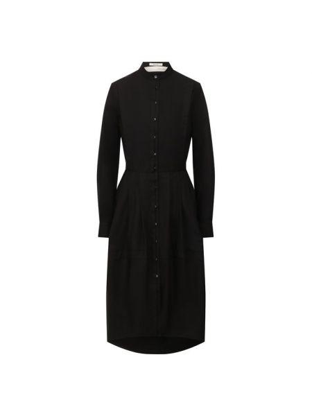 Хлопковое платье - черное Isabel Benenato