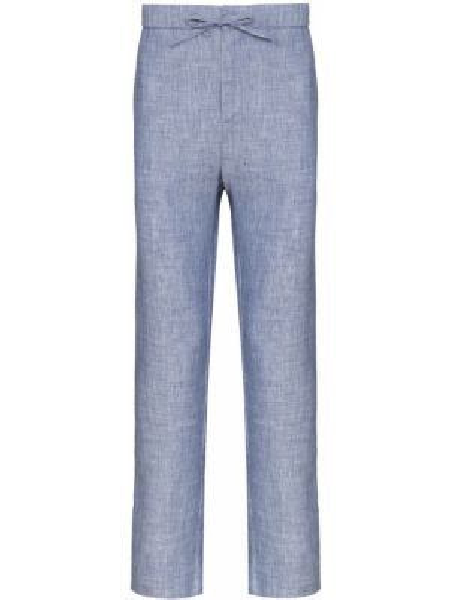 Niebieskie spodnie bawełniane do pracy Frescobol Carioca