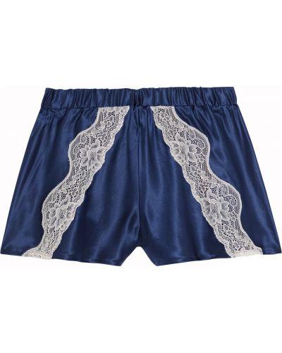 Кружевные сатиновые пижамные шорты на шнуровке Cosabella