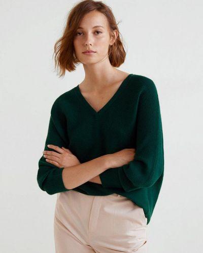 Зеленый пуловер Mango