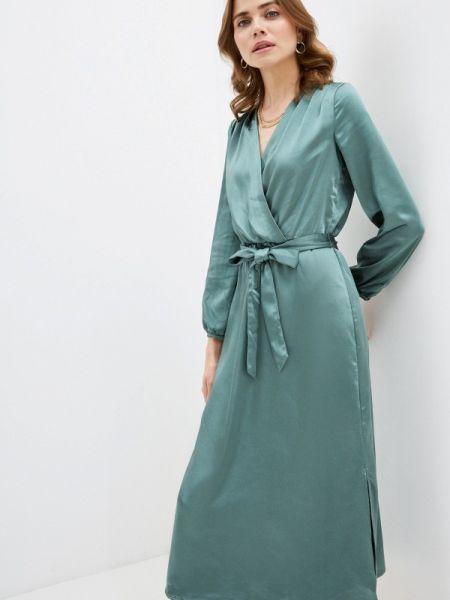 Платье с запахом зеленый Zarina