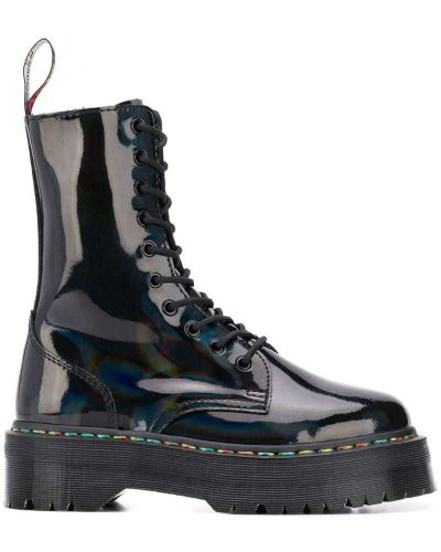 Ботинки с мехом черные Dr. Martens