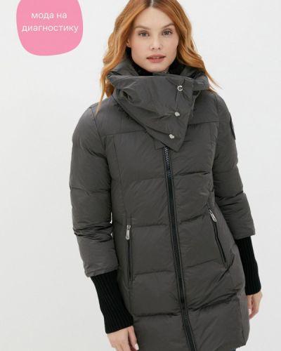 Утепленная серая куртка D'she