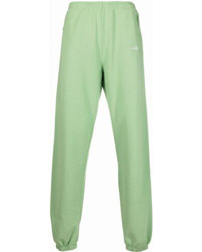 Zielone spodnie z haftem Sporty And Rich