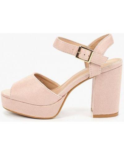 Босоножки на каблуке розовый Bellamica