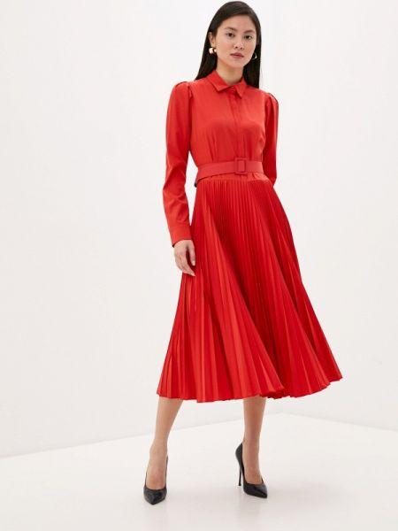 Платье платье-рубашка красный Imperial