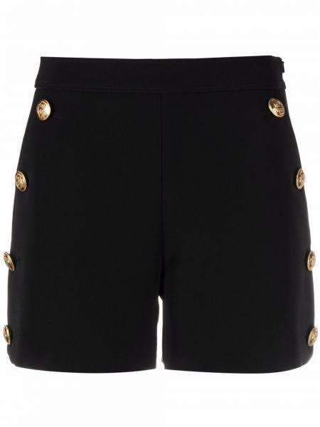 Черные шорты с завышенной талией на пуговицах Boutique Moschino