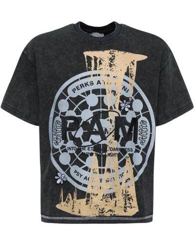 Czarny t-shirt bawełniany oversize P.a.m. Perks And Mini