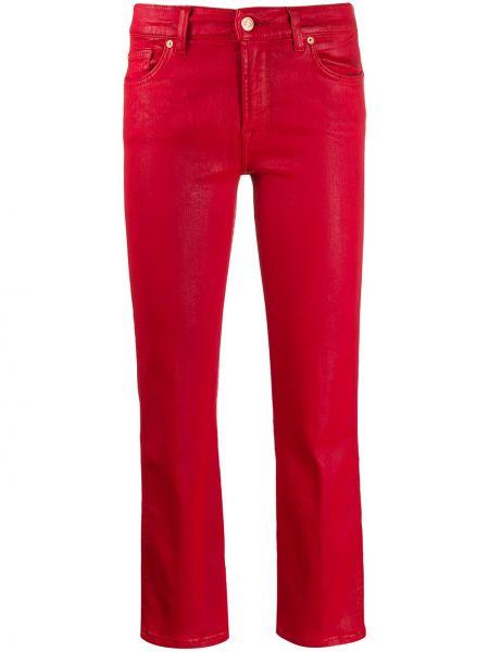 Широкие джинсы стрейч укороченные 7 For All Mankind
