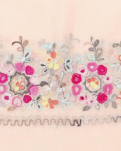 Розовый шелковый палантин Lorentino